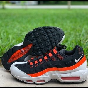 "Sz 11.5 Nike air max 95 ""Baltimore away"" red black"